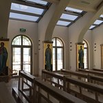 Inside the church are the mosaic's of the disciples of Jesus.
