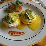 Breakfast: eggs Popey