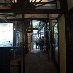 entering restaurant
