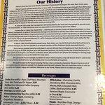 menu history