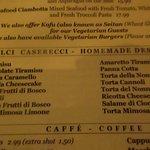Sosta Caffe desserts