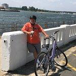 Local Bike Rider tasking a break on the Inlet