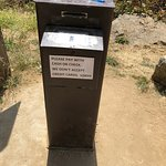 Parking permit station on honest system