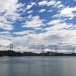 Kurushima bridge from seaside of Ooshima