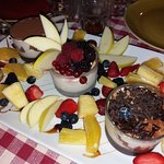 Tris di panna cotta e Frutta di stagione