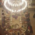 Buffet della cena visto dall'alto!!!! Che dire !!!Fantastico!!!