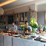Fantastic spread of food and attentive staff to welcome and serve you!