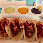 Mango Chipotle BBQ Shrimp Tacos! Wowsa!