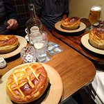 Chicken and Chorizo pie is bottom left, the other three are the Steak and Ale