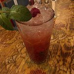 A raspberry mojito.
