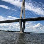 This is the suspension bridge into Charleston