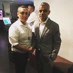 Mayor of London Sadiq Khan at Sahara Grill