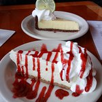 key lime pie and cheesecake