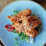 korean chilli, ginger & sesame fried chicken pieces