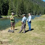 Fly fishing lesson with guide Dusty