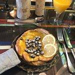 Lemon/blueberry Swedish Dutch Baby Pancake....excellent!