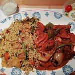 Lamb Bahari, veg rice. At home.