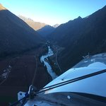 Day breaking over the Sacred Valley