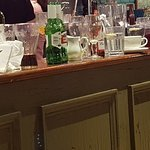 Plates drinks etc left on the bar our entire duration there