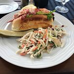 Yummy Lobster Roll with cole slaw at Latitudes - New Castle, NH