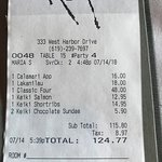 The erroneous final tab by around $15