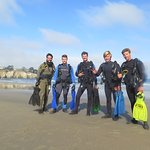 Boys' shore dive, for a change