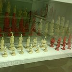chess pieces made from ivory