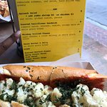 menu and sandwich