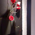 Corridor flower arrangements