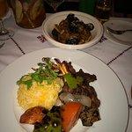 Lamb chops & lamb tajize with almond & dates