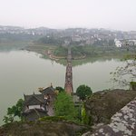 The view from the temple. You can see the bridge