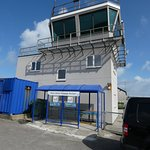 airport tower and baggage reclaim/bus shelter for castlebay.