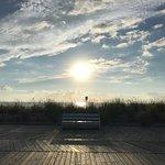 Sunrise at Rehoboth Beach Boardwalk