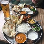 Awesome thali @£7.95 lunch promo  (The alacarte is even better!!)