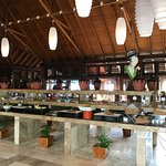 One of the buffet areas
