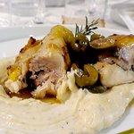 Pollo ncip e nciap su crema di patate