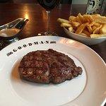 The ribeye steak - centre stage!