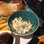 So this is a full potion of coleslaw - anyone for micro meals?