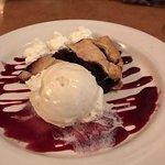 Berry pie with ice cream