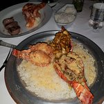 Lobster lobster and lobster. And rice.