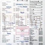 El menu del bar