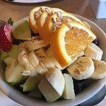 granola, yoghurt and fruit