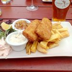 Fish and Chips and Lough Gill beer.