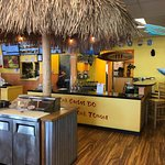 Salsa bar with outstanding choices. Try the pineapple salsa, my favorite.