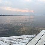Sunset from the Livingston Inn Pier over the lake