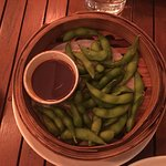 Edamame Beans - the sweet, sticky and spicy soy sauce is delicious!