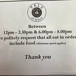 Please note our policy over busy periods - thank you
