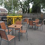 The Peter Cushing - J D Wetherspoon outside seating