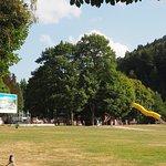 le parc et ses toboggans