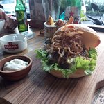 Beef Burguer with Bintang!! Awesome!!